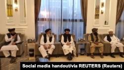 Taliban delegates meet with Qatari delegates in Doha.