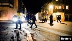 Նորվեգիա - Ոստիկանները դեպքի վայրում, Կոնգսբերգ, 13-ը հոկտեմբերի, 2021թ․