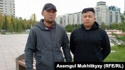 Этнические казахи из Синьцзяна (Китай) Мурагер Алимулы (справа) и Кастер Мусаханулы. Нур-Султан, 17 сентября 2021 года