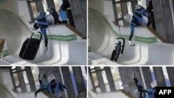 Во время тренировочного заезда грузинский саночник на большой скорости вылетел с трассы и врезался в металлический столб