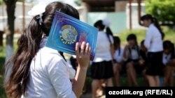 Ученица узбекской школы. Иллюстративное фото.