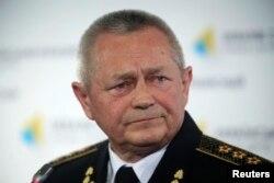 Бывший командующий ВМС и член националистической партии «Свобода» Игорь Тенюх.