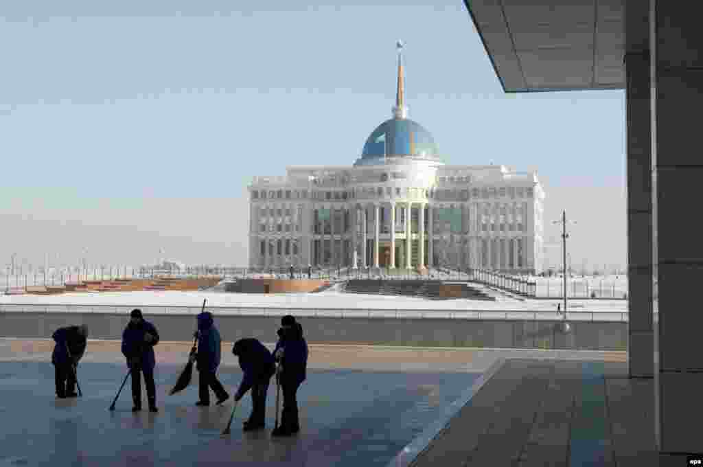 The new Presidential Palace in Astana has become a symbol of Kazakhstan's wealth under Nazarbaev's rule.