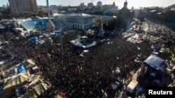 Ուկրաինա - Հակակառավարական հանրահավաքը Եվրոմայդանում, Կիև, 2-ը փետրվարի, 2014թ․