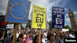Մեծ Բրիտանիա - Եվրամիությունից դուրս գալու որոշման դեմ բողոքի ցույց Լոնդոնում, 2-ը հուլիսի, 2016թ․