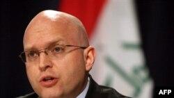 فیلیپ ریکر، سخنگوی سفارت آمریکا در بغداد گفته است که آمریکا منتظر هيچ مذاکره ای نبوده است زيرا مذاکره ای وجود نداشته است. (عکس از AFP)