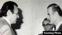 Фарид Сейфуль-Мулюков и президент Сирии Хафез Асад