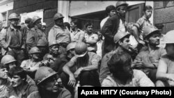 Протест в Димитрове (Мирнограде) Донецкой области, 1989 год