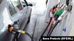 Serija poskupljenja goriva od početka 2021. godine dovela je do lančanog poskupljenja hrane i usluga (na fotografiji benzinska pumpa u Podgorici)