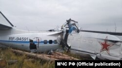 Wreckage of the twin-engine L-410, which crashed near the city of Menzelinsk on October 10.