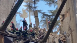 Rescuers Search For Survivors After Building Collapses In Batumi, Georgia