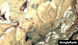 A satellite image of the military site near Shaymak before China's arrival.