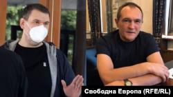 Делян Пеевски (вляво) и Васил Божков. Колаж.