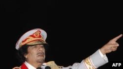 Ливийский лидер Муамар Каддафи.