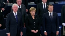 World Leaders Attend Memorial Ceremony For Former German Chancellor Kohl