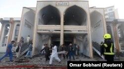 На месте нападения в Кабуле, 25 августа 2017 год