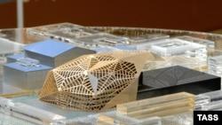 Макет проекта новой сцены Мариинского театра со зрительным залом на 2 тысячи мест архитектора Доминика Перро