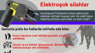 Azerbaijan- Infographic about Taser guns