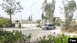This photo shows a general view of the area where the attack took place.
