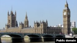 Лондондағы Ұлыбритания парламенті ғимараты.