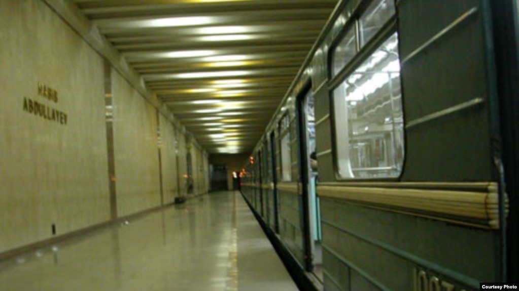 Одна из станций Ташкентского метрополитена.