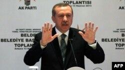 Түркия премьер-министрі Режеп Тайып Ердоған. Анкара, 13 маусым 2013 жыл.