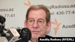 Посол США в Азербайджане Ричард Морнингстар в бакинской студии Радио Свобода