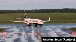 მინსკის აეროპორტში იძულებით დასმული Ryanair-ის თვითმფრინავი