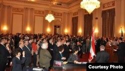 جانب من الاحتفال بذكرى ثورة الارز