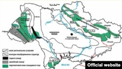На карте: месторождения сланцевого газа на Украине