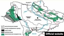 Запасы сланцевого газа на Украине