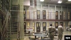 A cell block in Camp Delta 5 at Guantanamo Bay
