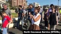 Экскурсия-протест активистов в Махачкале (архивное фото)