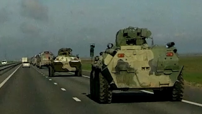 Russian Military Activity Ramps Up In Crimea Along Major Highway From Russia