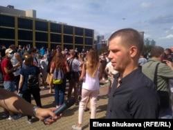 Михаил Михайлов на акции в поддержку Хабаровска