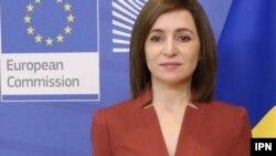Молдавската претседателка Маја Санду
