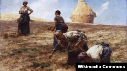 Леон Агюстэн Лерміт, «Зьбіральніцы каласкоў» (1887)