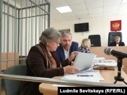 Елена Кара-Мурза и адвокат Иван Попов
