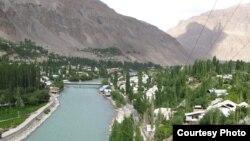 Хорог - административный центр Горно-Бадахшанской автономной области. Таджикистан.
