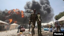 Pamje pas një sulmi të mëparshëm në Somali