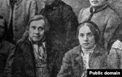 Вінцэнт Дунін-Марцінкевіч з дачкой Камілай, Менск, 1860-я г.