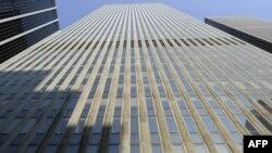 Fațada sediului Trustului News Corporation Headquaters de la New York