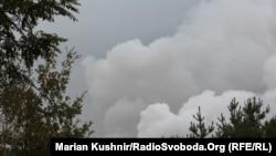 Imagine după delanșarea expoziilor la depozitul de muniții ucrainean