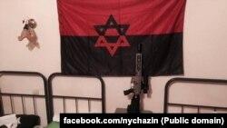 Прапор на одній з українських військових баз. Фото зі сторінки Натана Хазіна у Facebook