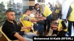 احد مراكز التبرع بالدم في الموصل (من الارشيف)