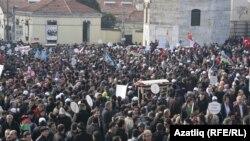 Хожалы курмандыктарын эскерген демонстрация Стамбулда да өттү, 26-февраль, 2012