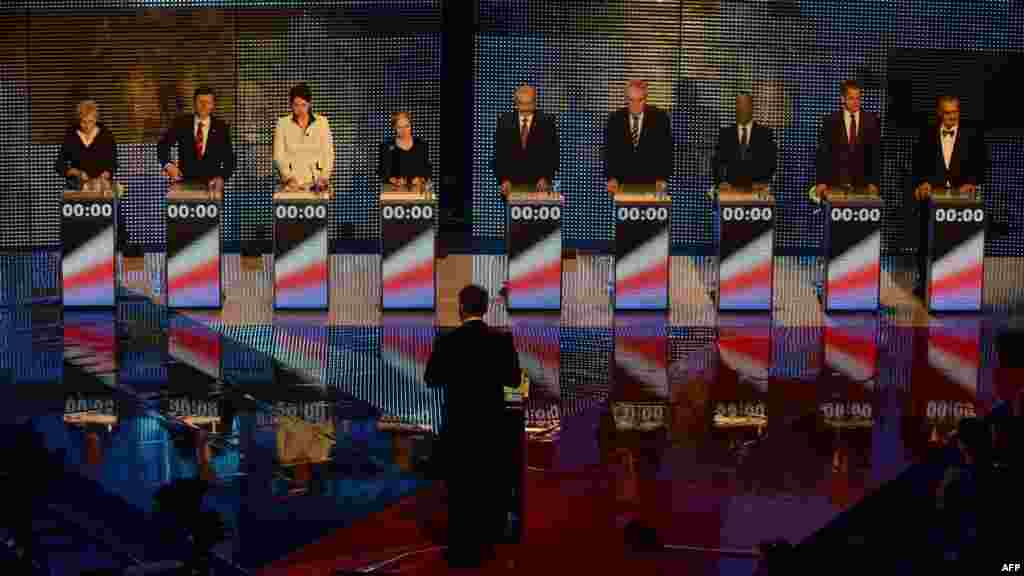 The candidates appear at their final pre-election debate.