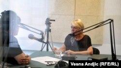 Gordana Suša u beogradskom studiju RSE