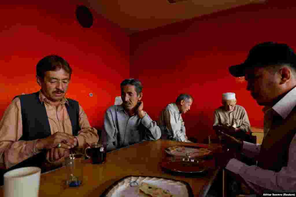 Hazara inside a teahouse in Quetta.
