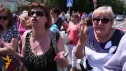 Донецки халкы сугышка каршы протест чарасы үткәрде